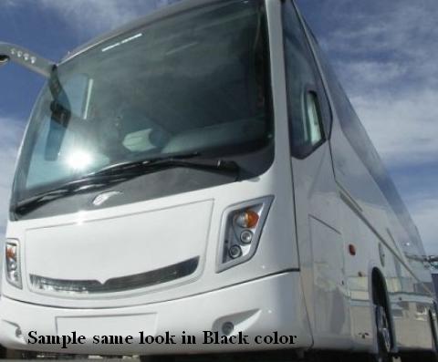 black color bus