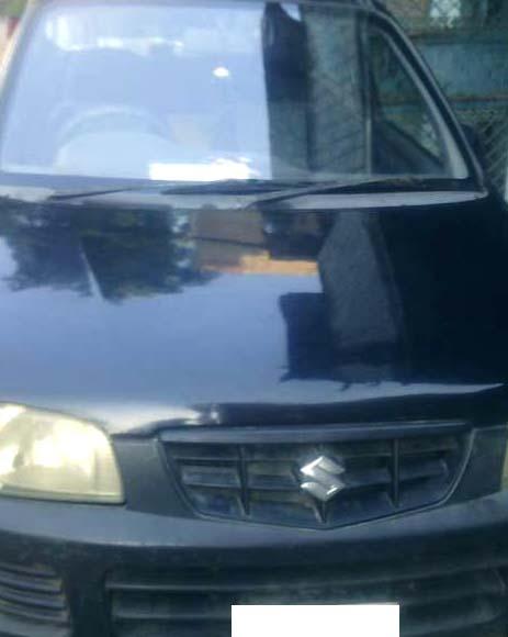 Black alto car